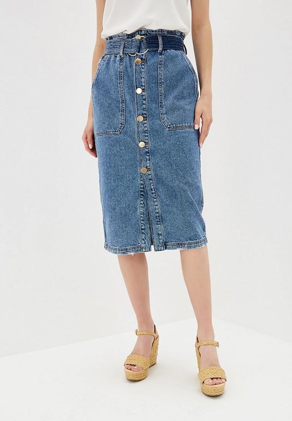 женская джинсовые юбка river island, синяя