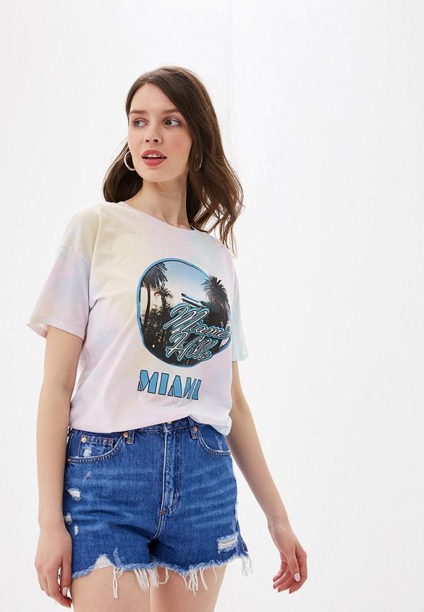 женская футболка river island, разноцветная