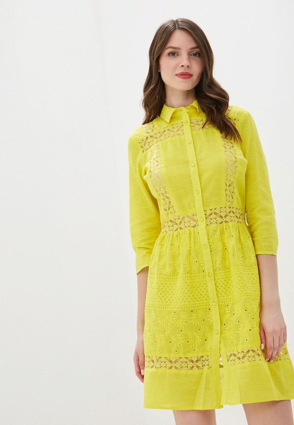 женское платье river island, желтое
