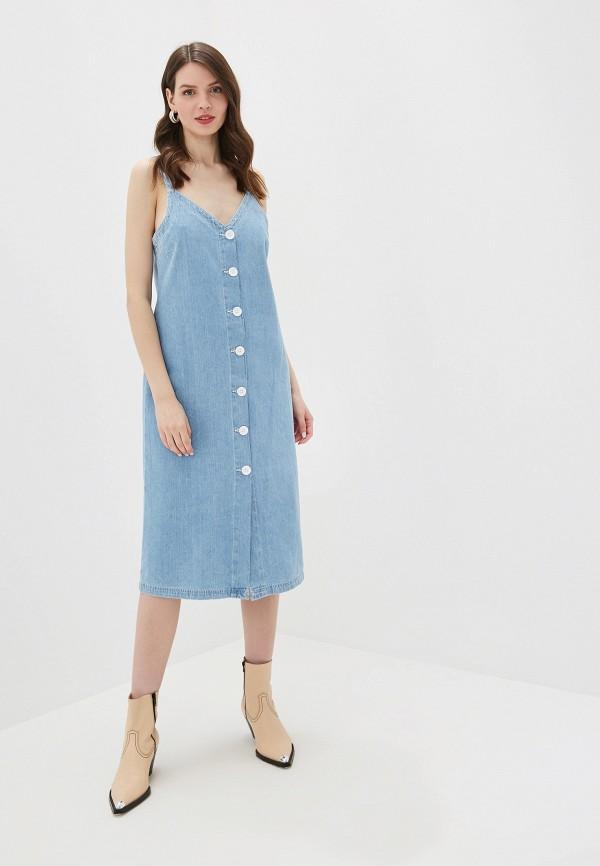 женское джинсовые платье river island, голубое