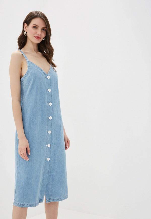 Фото 2 - Платье джинсовое River Island голубого цвета