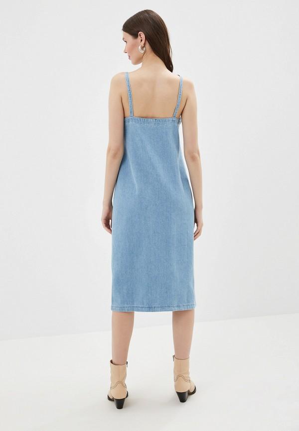 Фото 3 - Платье джинсовое River Island голубого цвета