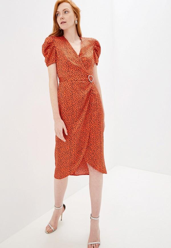 женское повседневные платье river island, красное
