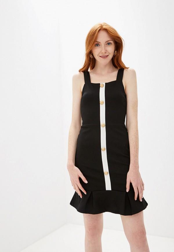 женское платье-футляр river island, черное