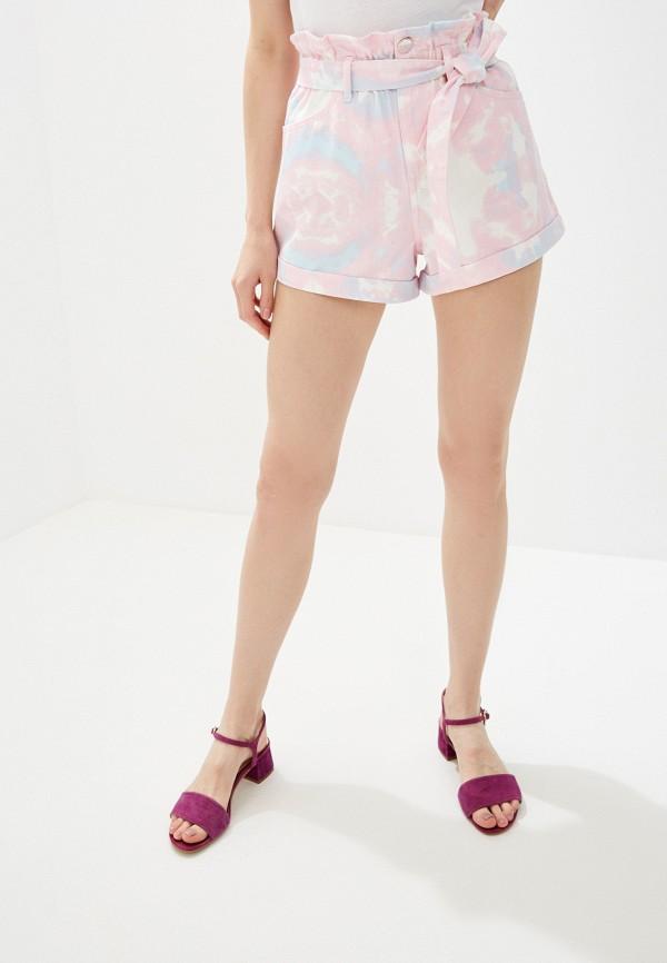 женские джинсовые шорты river island, розовые