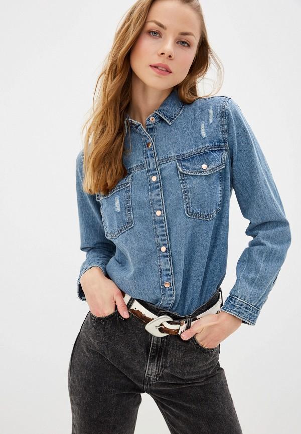 Фото - Рубашку джинсовая River Island голубого цвета