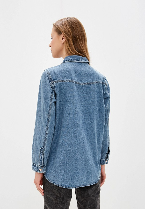 Фото 3 - Рубашку джинсовая River Island голубого цвета