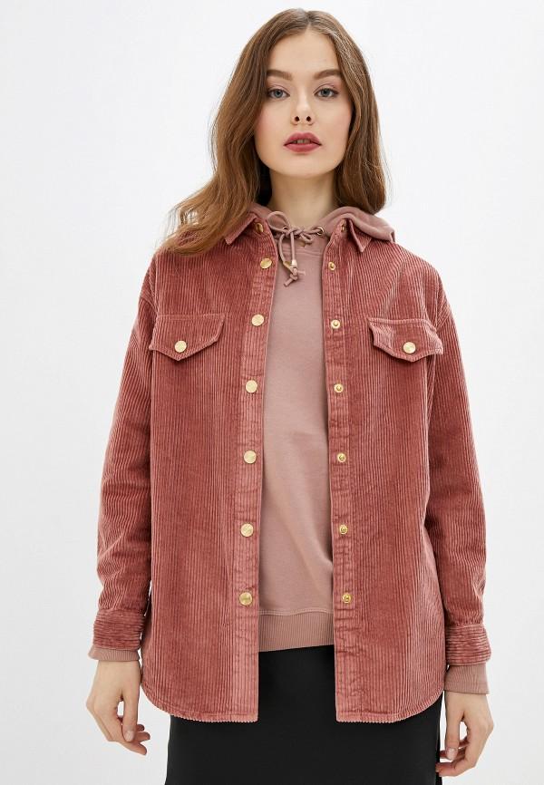 женская рубашка с длинным рукавом river island, розовая