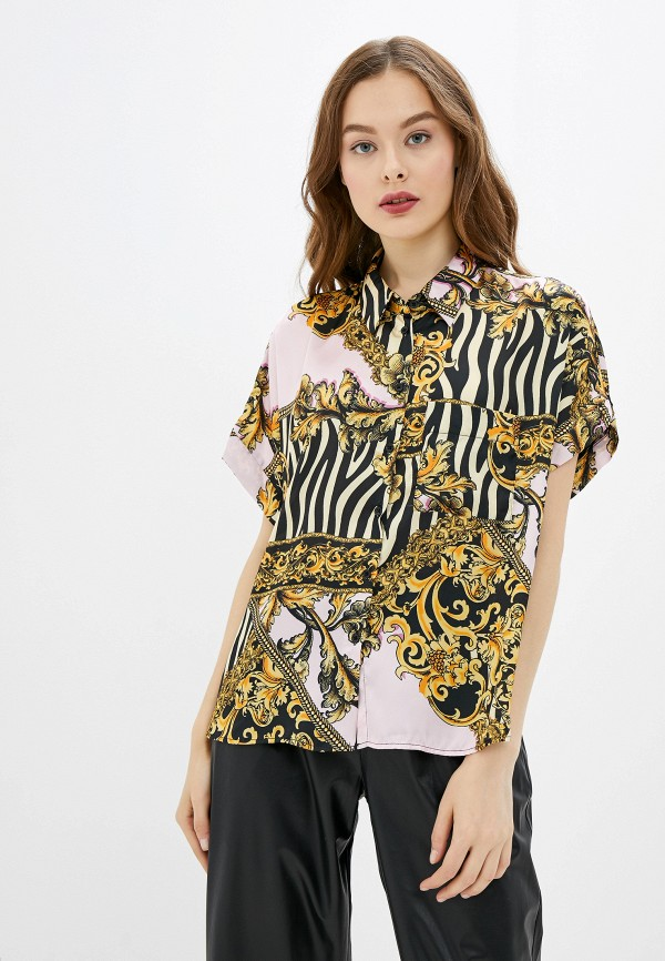 женская рубашка с коротким рукавом river island, розовая