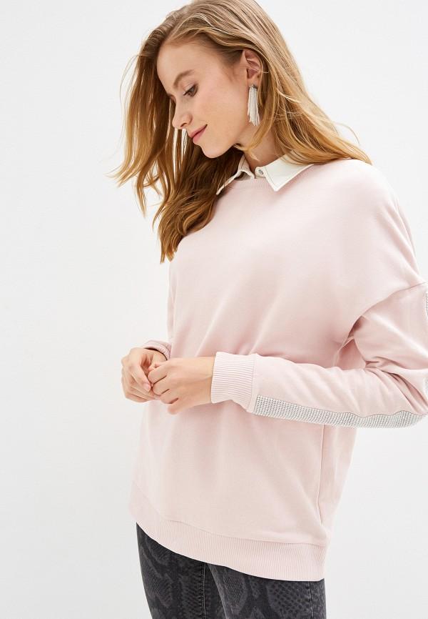женский свитшот river island, розовый