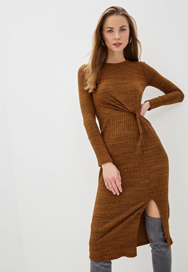 женское повседневные платье river island, коричневое