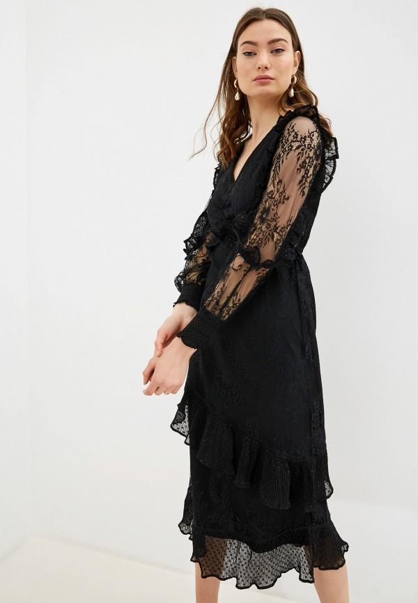 женское вечерние платье river island, черное