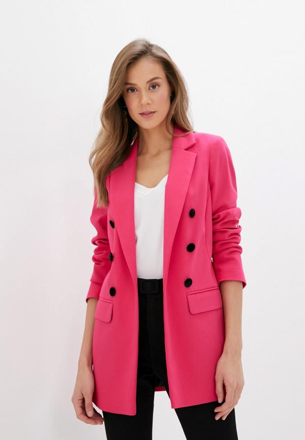 женский пиджак river island, розовый