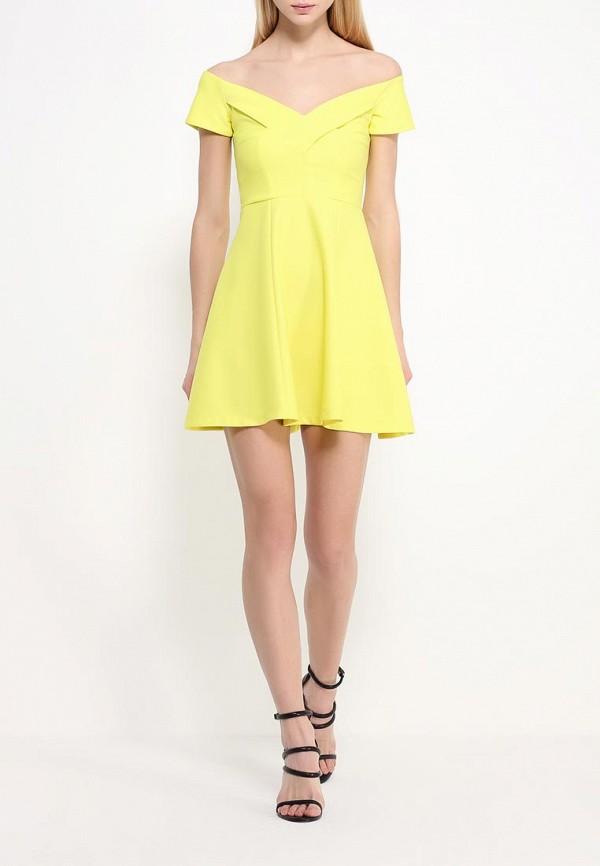Фото 2 - женское платье River Island желтого цвета