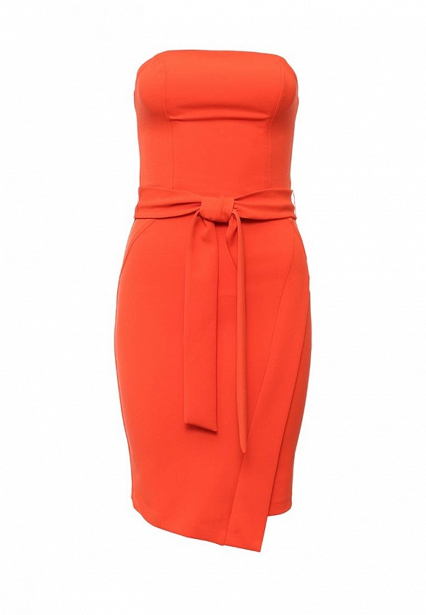 женское вечерние платье river island, оранжевое