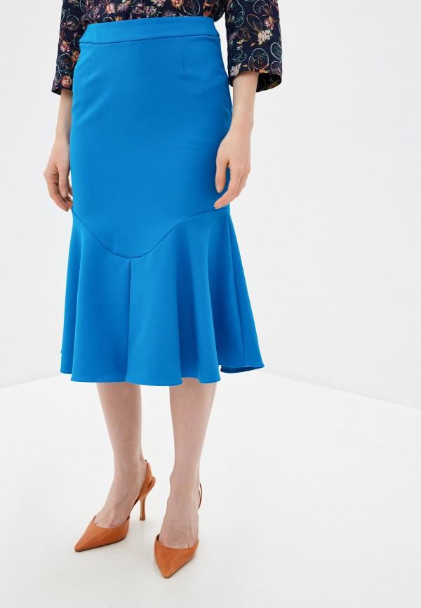 женская прямые юбка river island, синяя