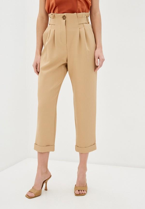 женские повседневные брюки river island, бежевые