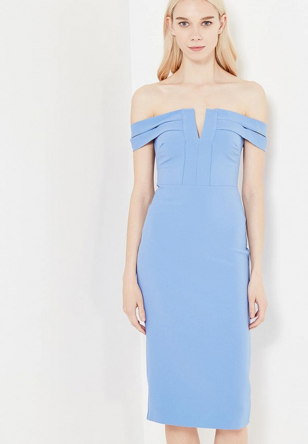 женское платье river island, голубое
