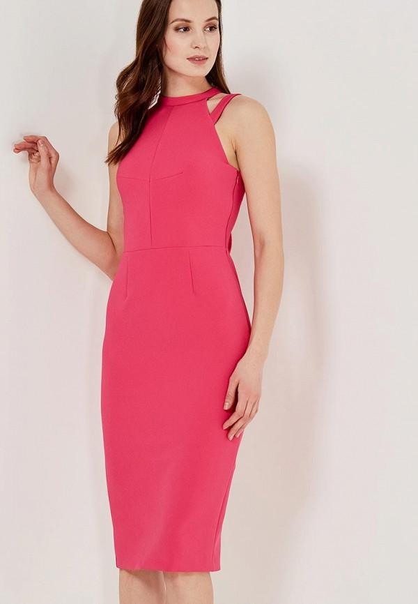 женское вечерние платье river island, розовое