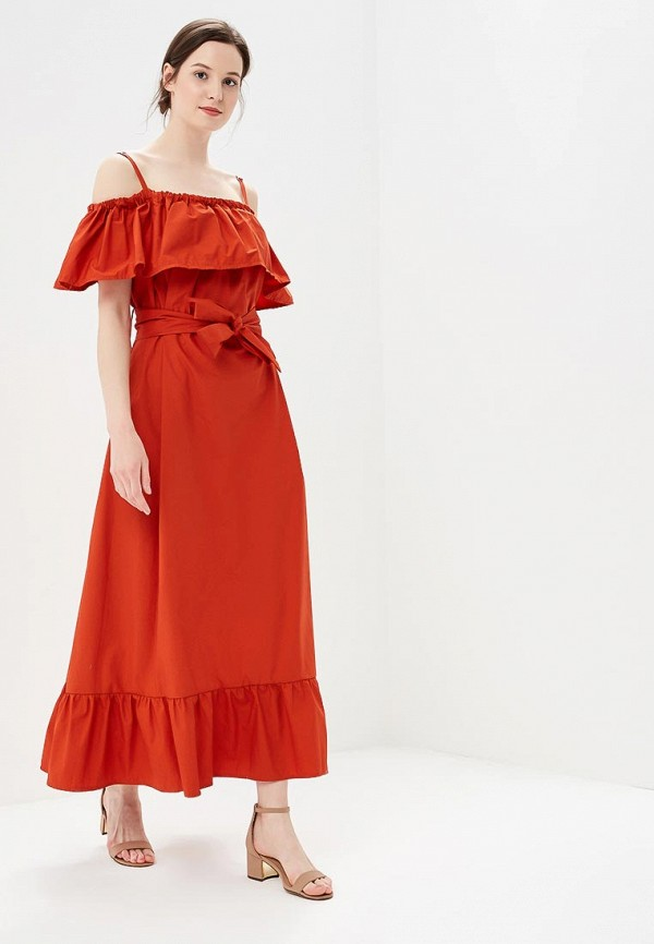 женское платье rinascimento, оранжевое