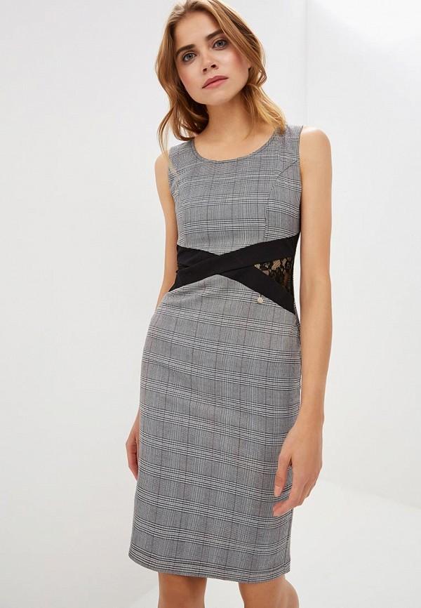 женское платье-футляр rinascimento, серое