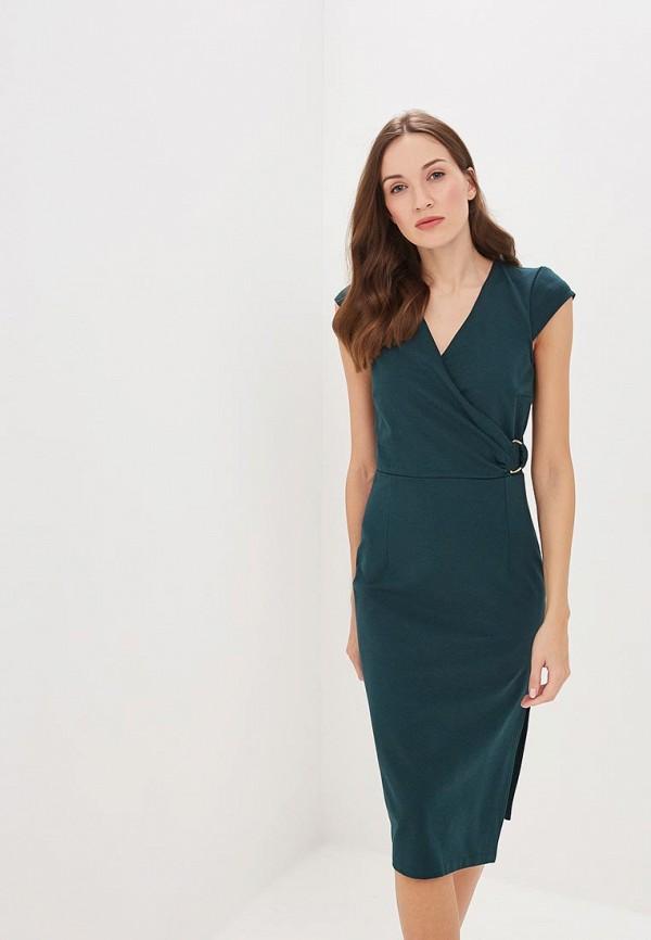 женское платье-футляр rinascimento, зеленое