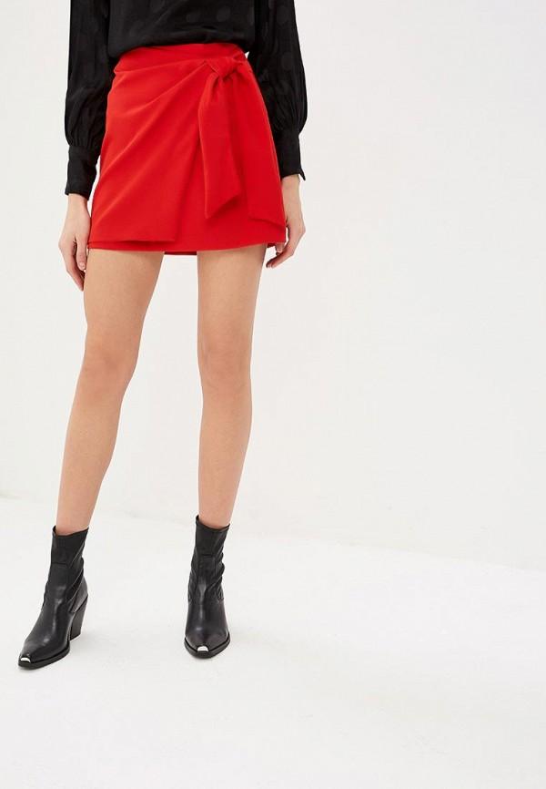 женская прямые юбка rinascimento, красная