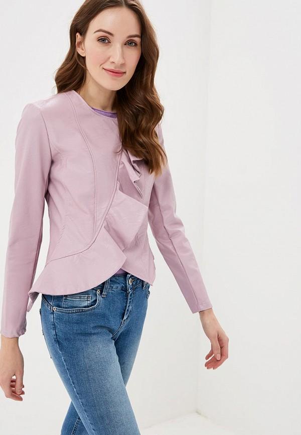 Фото - Куртку кожаная Rinascimento розового цвета
