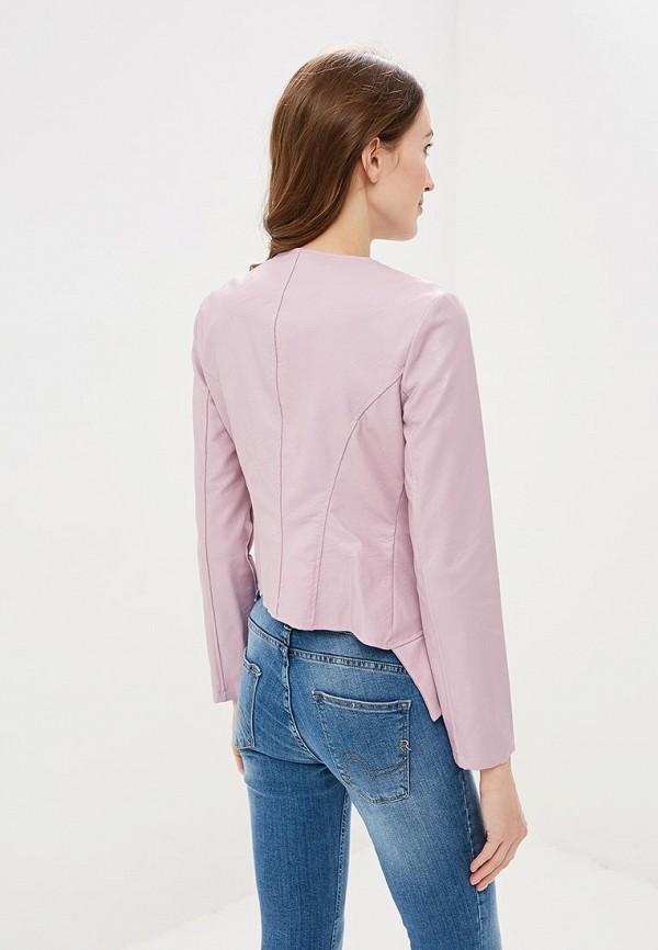 Фото 3 - Куртку кожаная Rinascimento розового цвета