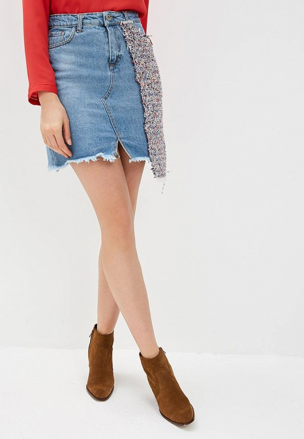 женская джинсовые юбка rinascimento, голубая