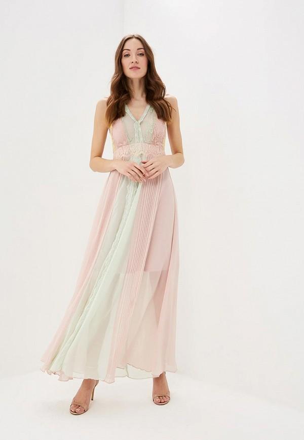 Фото - женское вечернее платье Rinascimento розового цвета