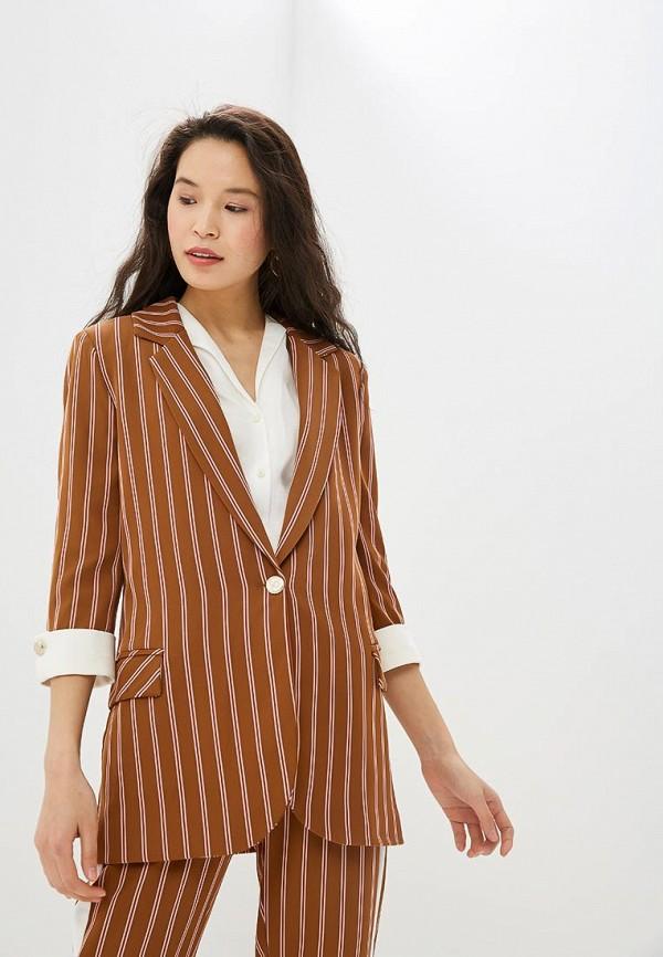 женский пиджак rinascimento, коричневый