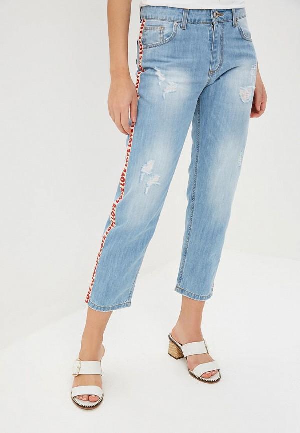 женские прямые джинсы rinascimento, голубые