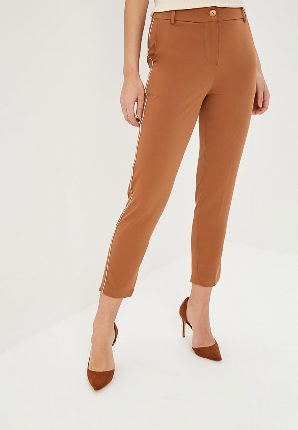 женские повседневные брюки rinascimento, коричневые