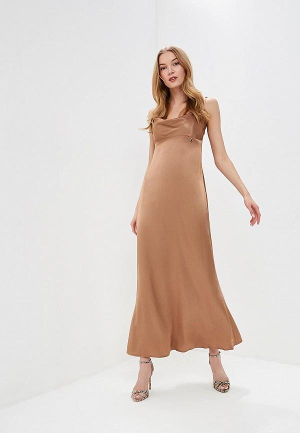 женское вечерние платье rinascimento, коричневое