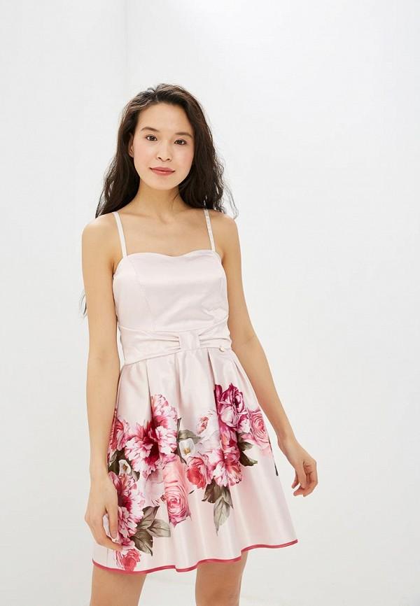 женское платье-футляр rinascimento, розовое