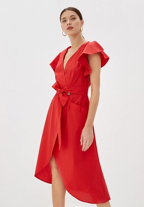 женское платье rinascimento, красное