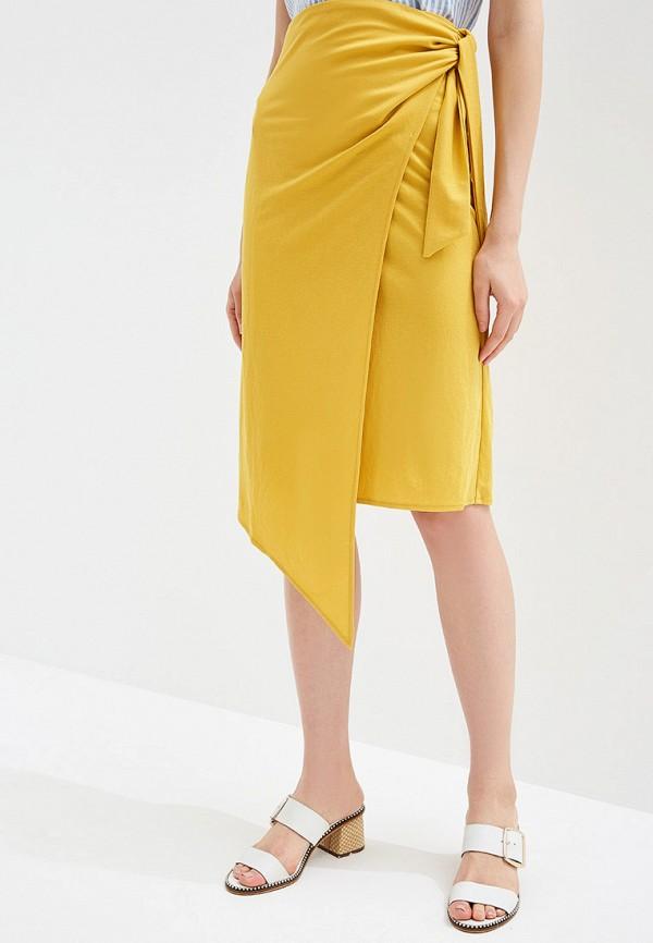 женская юбка rinascimento, желтая