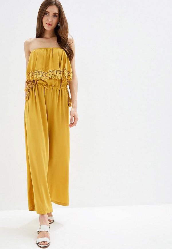 женский комбинезон rinascimento, желтый