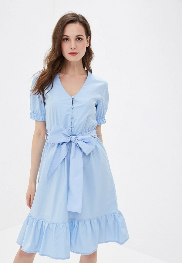 женское повседневные платье rinascimento, голубое
