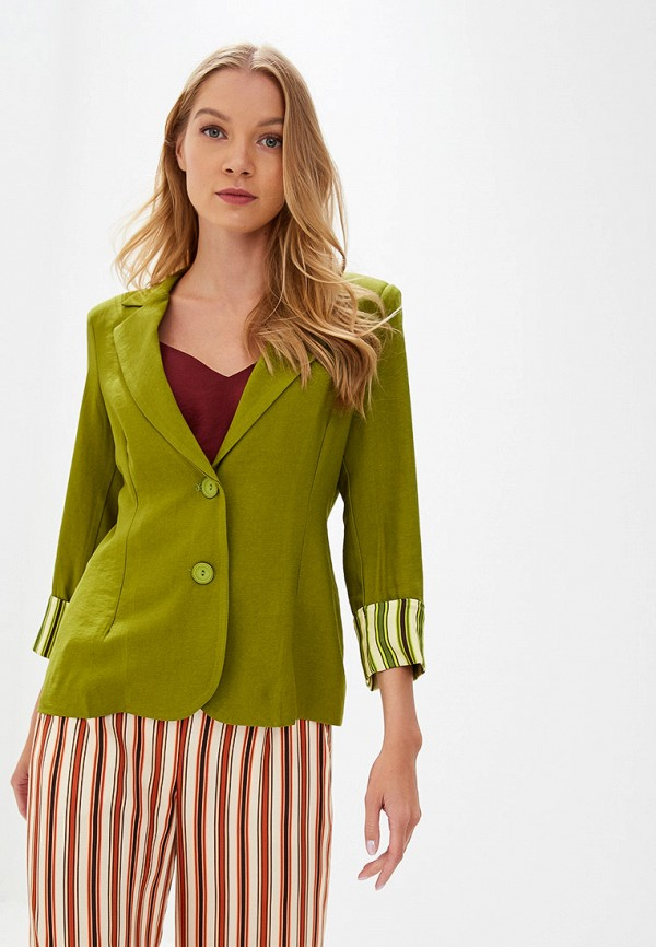 женский пиджак rinascimento, зеленый