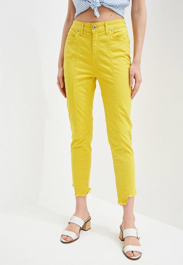 женские повседневные брюки rinascimento, желтые