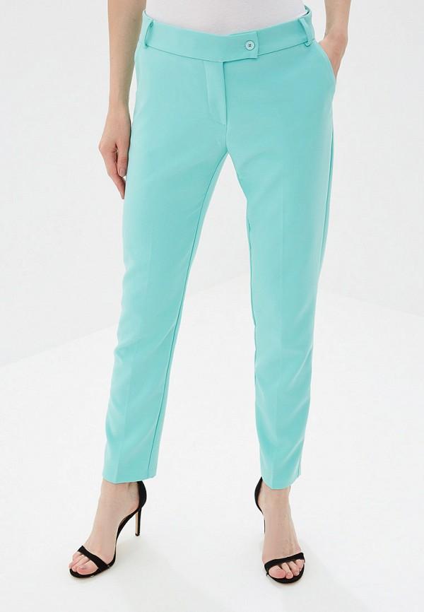 женские классические брюки rinascimento, бирюзовые