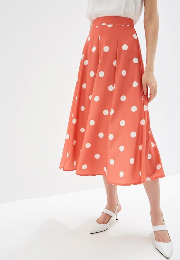 женская юбка rinascimento, оранжевая