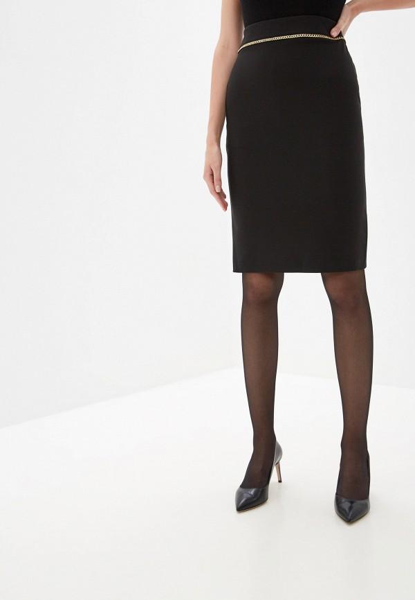 женская прямые юбка rinascimento, черная