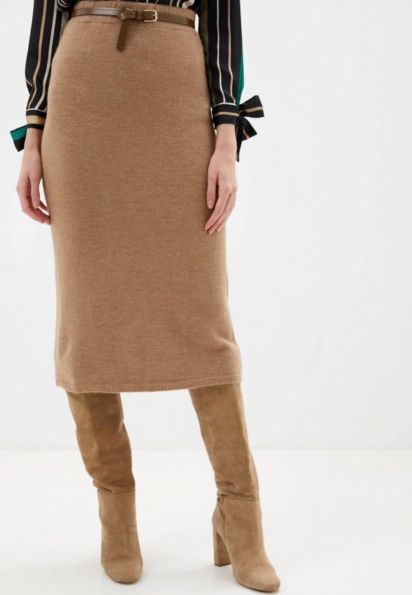 женская прямые юбка rinascimento, бежевая