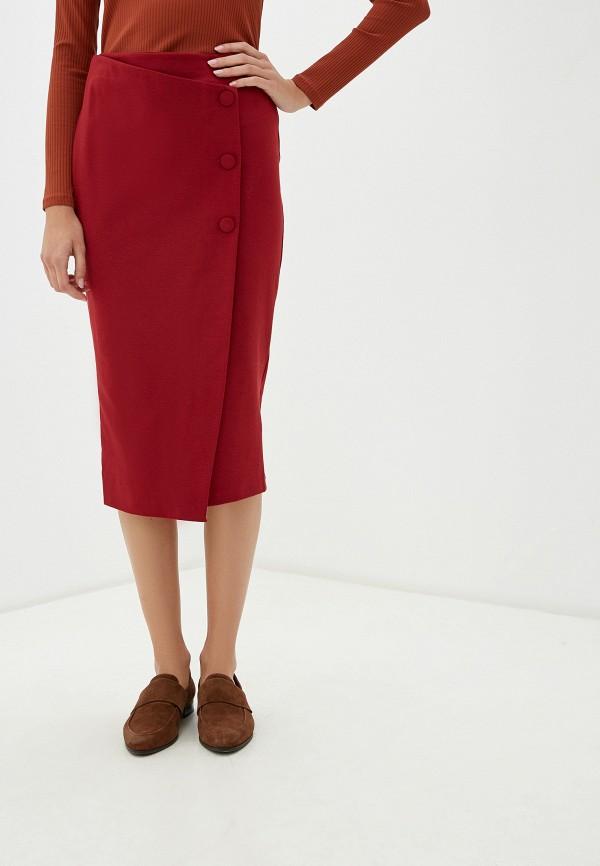 женская прямые юбка rinascimento, бордовая