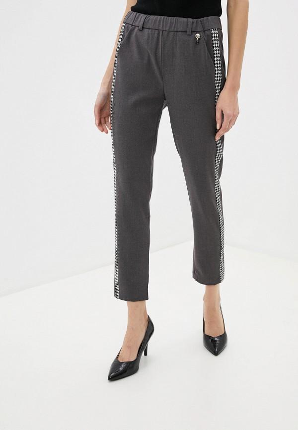 женские брюки джоггеры rinascimento, серые