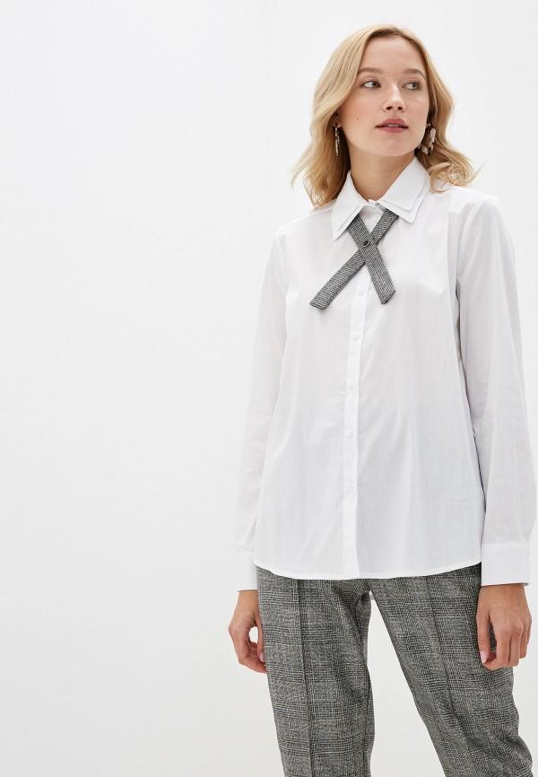 женская рубашка с длинным рукавом rinascimento, белая