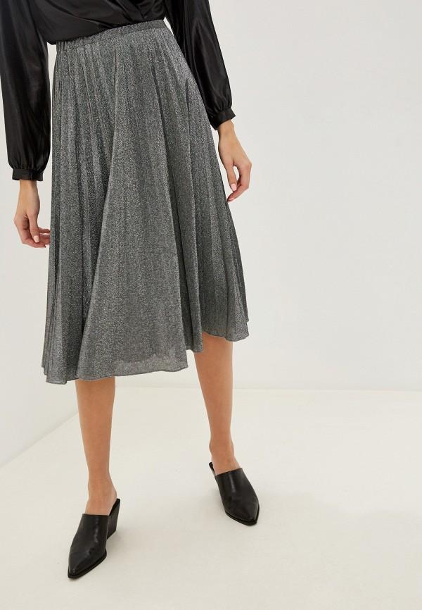 женская юбка rinascimento, серебряная